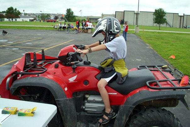 atv for farm use child safety