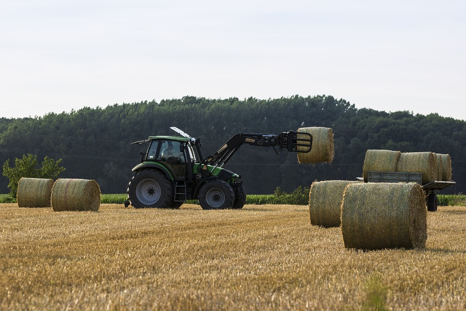 Tractors are farm noises that can cause hearing damage