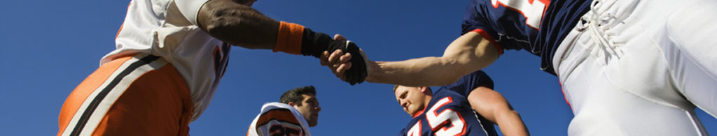Football Players Shaking Hands