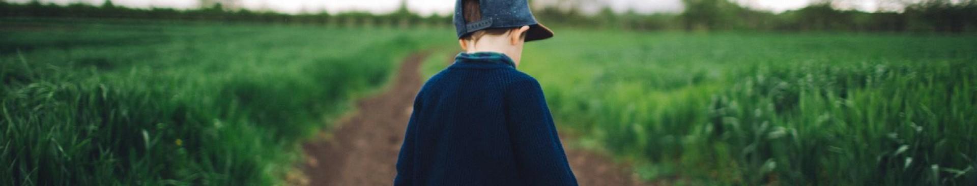 child on farm
