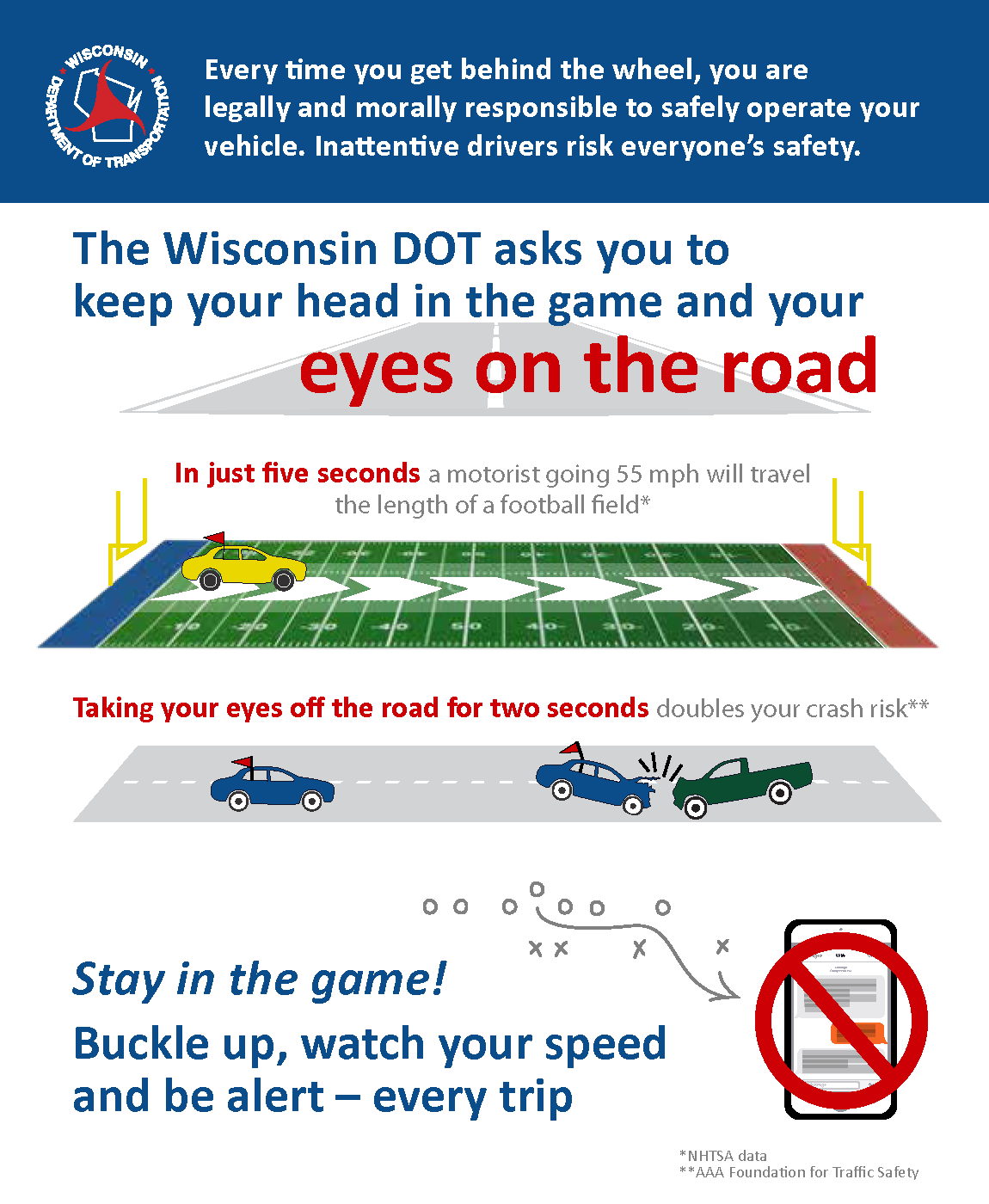 keep eyes on the road
