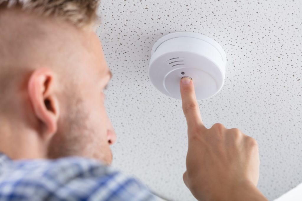 Smoke Detector On Ceiling