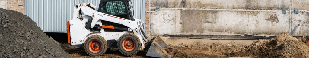 skid steer moving dirt