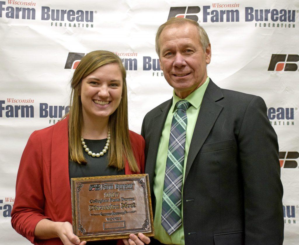 Alison Wedig Farm Bureau's Collegiate Discussion Meet Winner